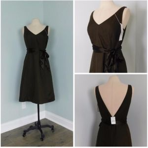 NWT ~ J. CREW Sz 10 Brown Special Event Dress